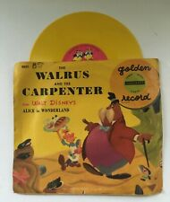 The Walrus and the Carpenter Alice in Wonderland Disney 78 Rpm 1951 Golden