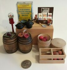 VINTAGE MINIATURE DOLLHOUSE OLD FASHIONED COUNTRY STORE FURNITURE/ACCESSORIES