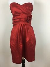Pompous Girly Cocktail Dress Junior Size 13 Red Strapless Womens Holiday Party