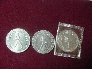 3 Coin  1970,72,73  NFL Washington Redskins Johnnie Walker Red Football Schedule