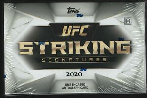 IN STOCK 2020 Topps UFC Striking Signatures Sealed Hobby Box Encased AUTOGRAPH