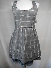 New listing nwt Free People Weather Vane Shift Dress Sz 4 S Ikat Charcoal 100% Cotton Floral