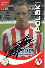 Sjaak polak Esparta Rotterdam Fútbol autografiada tarjeta firmada 371449