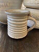 Hand Made Rustic Stoneware Art Pottery Coffee Tea Mug Cup Small Signed
