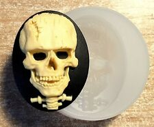 Skull silicone mould sugarcraft polymer clay fimo resin mold goth wax chocolate