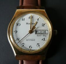 Beautiful Bulova automatic Set-O-Matic Swiss Made dual day N7 Wrist Watch