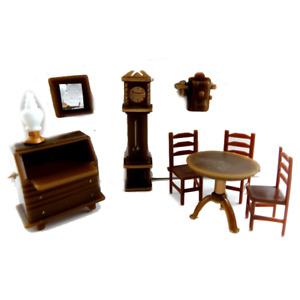Melody Jane Dolls House Miniature 1:48 Plastic Study Office Furniture Set