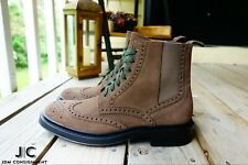 Aquatalia Lawrence Suede Wingtip Boot 10.5D in Dark Taupe.  Made in Italy