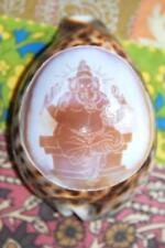 Ganesha Elephant God Idol Carved Cowry shell