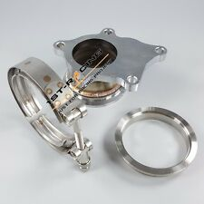 """stainless steel Adaptor Kit T3 T3/T4 5 Bolt Turbo Downpipe Flange to 3"""" V Band"""