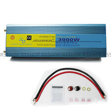 LCD display 3000W Pure Sine Wave Power Inverter 6000W Peak 12v DC to 240v AC