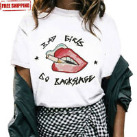 2019 Women Girl Summer Casual Short Sleeve Loose Thin T Shirt Tops Blouse XS-4XL