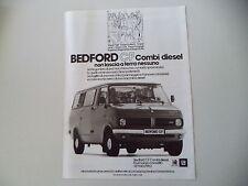 advertising Pubblicità 1979 BEDFORD CF DIESEL COMBI