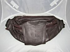 BROWN MEN'S GENUINE LEATHER FANNY WAIST POUCH BAG