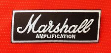 MARSHALL AMPLIFICATION GUITAR AMP BAND MUSIC ROCK SEW ON IRON ON PATCH BADGE