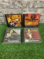 Playstation PS1 Game Bundle - Tomb Raider 2 3 Street Racer Ridge Racer