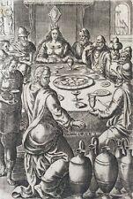 Les Noces de Cana gravure première moitié XVIII anonyme Vin Boisson