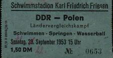 Ticket / Eintrittskarte 22.09.1953 DDR - Polen, Friesenstadion Berlin