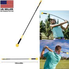 Golf Swing Trainer Aid Practice Power Strength Golf Tempo Flex Training Indoor