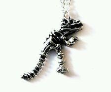 Dinosaur skeleton tyrannosaurus t-rex pendant necklace 18 inch chain