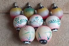 Collection 9 Vintage Hand Painted Glass Oriental Lantern Christmas Lights Bulbs