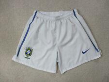 Nike Brazil Soccer Shorts Adult Extra Large White Blue Futbol Football Dri Fit *