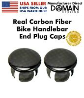 REAL Carbon Fiber Bike Handlebar End Plug Caps MTB/Road Bicycles, Domain Cycling