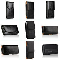 Horizontal/Vertical Leather Holster Pouch Case Cover Belt Clip For Samsung S8+