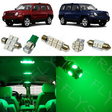 6x Green LED lights interior package kit for 2007-2017 Jeep Patriot JP1G