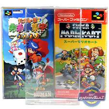 200 X Super Famicom game box Protecteurs plus 0.5 mm en plastique Pet Display Case