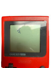 Nintendo Game Boy Pocket Edition Red Handheld System With Games + Ac Adapter