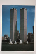 The World Trade Center,1981,  Kunst-Postkarte