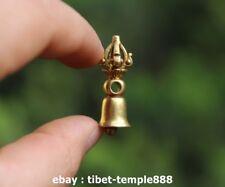 3.5 CM China Bronze Gild Jewelry Handwork Vajra-pestle Vajra Bell Amulet Pendant