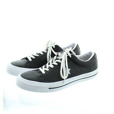 Converse Adult Unisex One Star Low Top Leather Shoes Sneakers 158465C Black 8