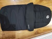 Babystyle Oyster 1 / 2 / Max Cosy Toes / Footmuff in Black