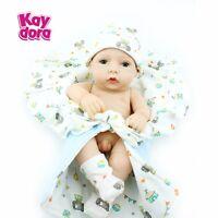 Handmade Real Looking Newborn Baby Vinyl Silicone Realistic Reborn Dolls Boy