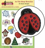 Amazing Designs In The Hoop Brooches 26 Classic Designs ADC-236 Brand New Sealed