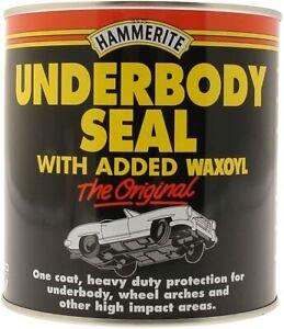 Hammerite Underbody Underseal Rust Protection Car Waxoil Black 500ml