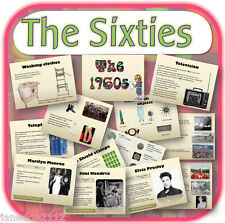 KS2 TOPIC 1960s THE SIXTIES Primary interactive whiteboard teaching resources CD