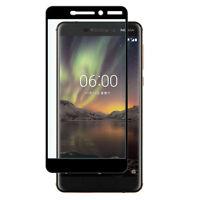 Nokia 6.1 (2018) - voll Panzerfolie 3D Panzer Folie 9H Folie Schutzglas