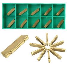 10-teilig MGMN200-G 2mm Gold Hartmetalleinsatz für MGEHR/MGIVR Nuten Schneider