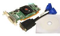 NEW AMD Radeon 512MB HD5450 HD6350 Video Card PCIe DMS59 Low Profile Windows SFF