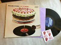 Rolling Stones Let It Bleed Vinyl LP LONDON Stereo NPS-4 '69 EX w/ 6 stickers!