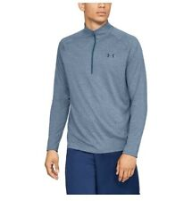 New Under Armour Men Half Zip Tech 2.0 Top Lightweight Ls Shirt Pullover Blue M