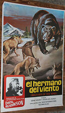 Used - Cartel de Cine  EL HERMANO DEL VIENTO  Vintage Movie Film Poster - Usado