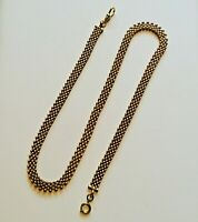 Antique watch chain Necklace. Articulated. Gold fill. 22""