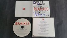 Depeche Mode Remixes The Best Of Volume 1 Promo CD PLCDBONG39 Promotional Use