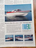 1960 Owens Fiberglas Boats Ad 17 Landau Express Yacht Flagship & Sea Skiff
