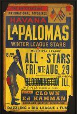 1950's Havana La Palomas, Negro League, Cardboard Broadside w Ed Hamman  14 x 22