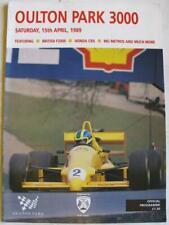 OULTON PARK 15 Apr 1989 3000 British F3000 A4 Official Programme